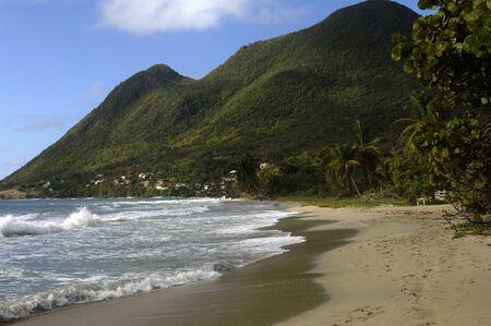 the coast of  Le Diamant in Martinique Stock Photo - 12763243