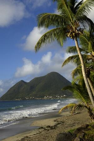 the coast of  Le Diamant in Martinique Stock Photo
