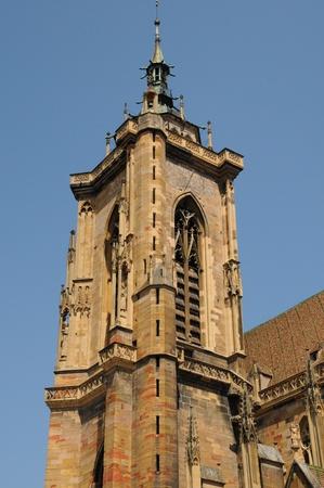 collegiate: France, collegiate church Saint Martin of Colmar Stock Photo