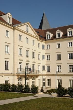 Ile de France, the city hall of Vaureal Stock Photo - 12877825