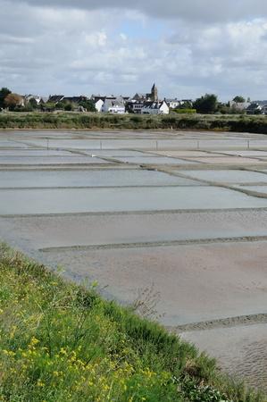 evaporation: France, the salt evaporation pond in Guerande Stock Photo
