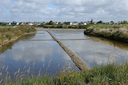evaporacion: Francia, la laguna de evaporaci�n de sal en Gu�rande