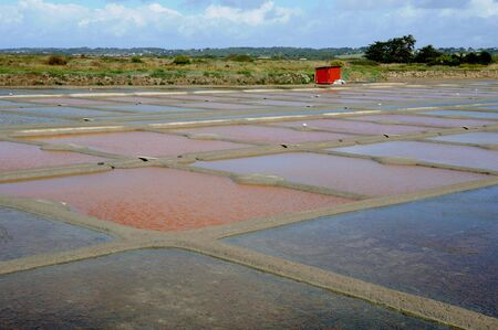 France, the salt evaporation pond in Guerande Stock Photo - 12943877