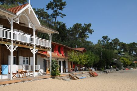 herbe: France, old house in L Herbe in Bassin d Arcachon