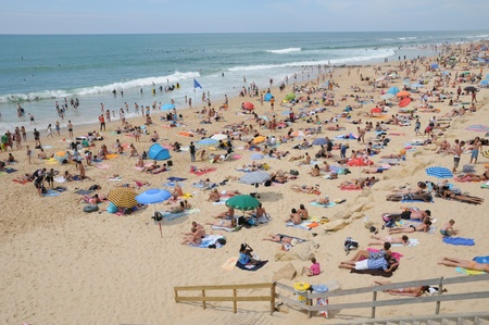 gironde: France, the beach of Lacanau Ocean In Gironde