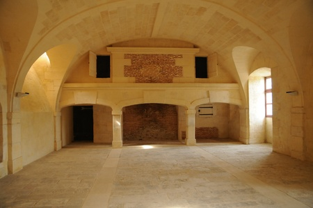 gironde: France, the castle of Cadillac kitchen in Gironde