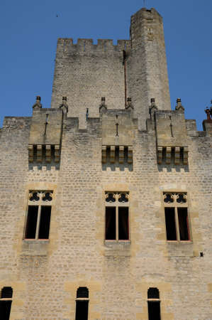 gironde: France, the medieval castle of Roquetaillade in Gironde