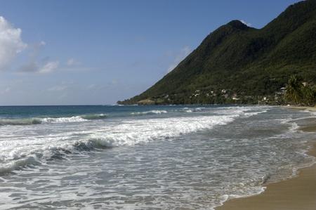 the coast of  Le Diamant in Martinique Stock Photo - 13151992