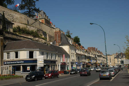 pontoise: the town of Pontoise in Val d Oise Editorial