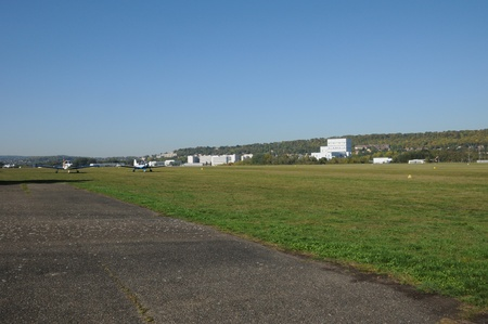 airfield: France, Yvelines, the airfield of Les Mureaux Stock Photo