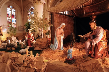 France, nativity scene in Triel-sur-Seine church Stock Photo - 13162049