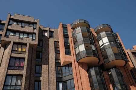 pontoise: Val d Oise, modern building in Cergy Pontoise