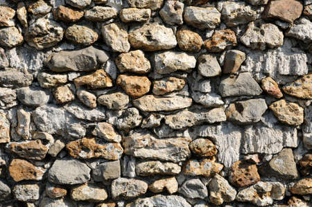 France, detail of a stone wall Stock Photo - 13204911