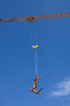 France, a crane on a building site in Courdimanche