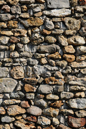 France, detail of a stone wall Stock Photo - 13288314