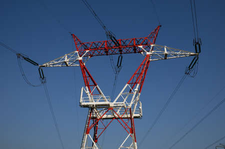 an electric line in France Stock Photo - 13289379