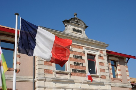 France, the city hall of Le Teich in Gironde Stock Photo - 13404011