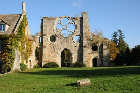 vaux: France, Yvelines,  les Vaux de Cernay abbey Stock Photo