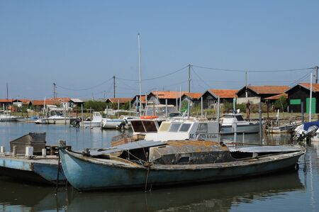 France, oyster farming village of La Tete de Buch Editorial