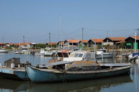 France, oyster farming village of La Tete de Buch Editorial