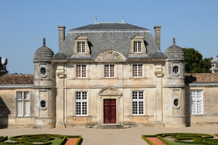 gironde: France, the classical castle of Malle in Gironde