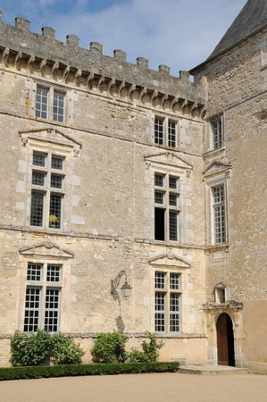 gironde: France, the castle of Vayres in Gironde Editorial