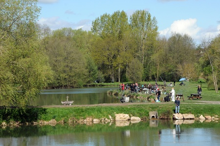 France, a pond in Brueil en Vexin Stock Photo - 13744108