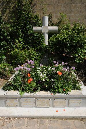 monet: Francia, la tumba de Claude Monet en el cementerio de Giverny