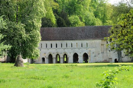 fontaine: France, the abbey of Fontaine Guerard in Radepont