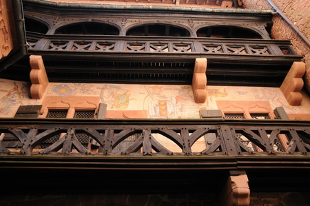 haut: France, the chateau du Haut Koenigsbourg in Alsace Stock Photo