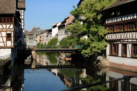 malerischen alten Haus im Stadtteil La Petite France in Straßburg