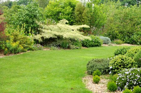 cotes d armor: France, le Jardin Lepage in Pleumeur Bodou Stock Photo