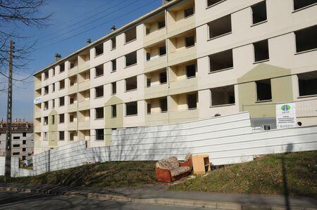 sordid: France, old building before demolition in Les Mureaux