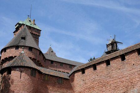 haut: Bas Rhin, Haut Koenigsbourg castle in Alsace Editorial