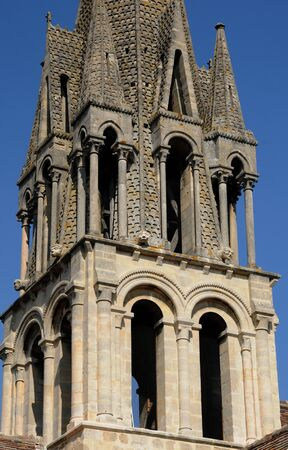 France, bell tower of Vernouillet church Stock Photo
