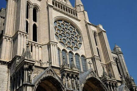 et: Centre, the cathedral of Chartres in Eure et Loir  Stock Photo