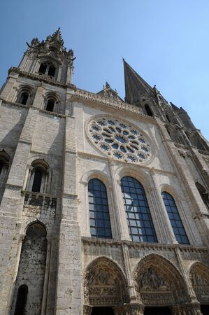 chartres: Centre, the cathedral of Chartres in Eure et Loir  Stock Photo
