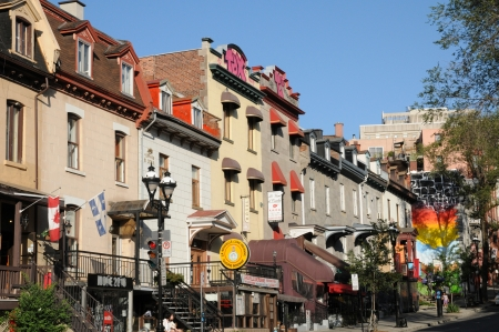 Canada, Quebec, Saint Denis street in Montreal