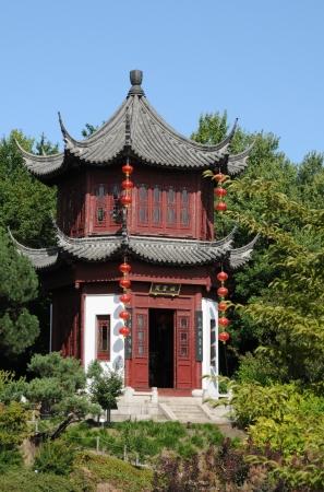 Canada, chinese garden inthe Botanical Garden of Montreal