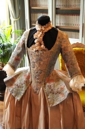 France, dress of eighteenth century in the castle of  villarceaux Foto de archivo - 15700028