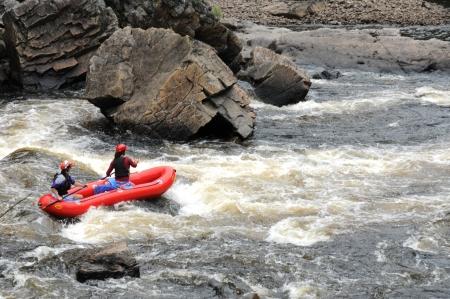 kayaker: Canada, kayaker in the Parc du Trou de la Fée in Desbiens Editorial