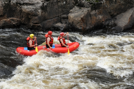 kayaker: Canada, kayaker in the Parc du Trou de la in Desbiens Editorial