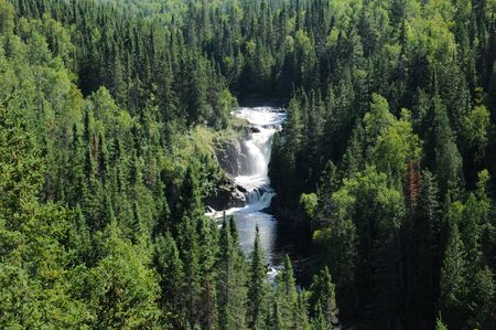 val: Canada, Quebec, the waterfall of Val Jalbert