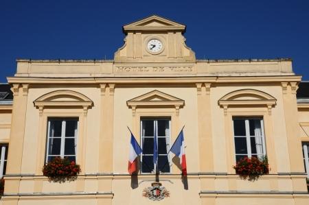 Ile-de-France, la mairie de Maule Banque d'images