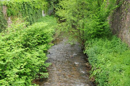 France, a brook in Obernai in Bas Rhin Stock Photo - 15967537