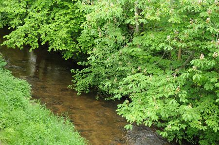 France, a brook in Obernai in Bas Rhin Stock Photo - 16273527