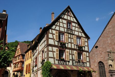 alsace: France, the village of Kaysersberg in Alsace
