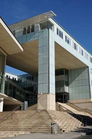 pontoise: France, the courthouse of Pontoise in Val d Oise  Editorial