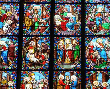 pontoise: Ile de France, cathedral Saint Maclou in Pontoise