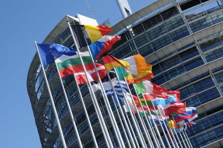 Frankrijk, het Europees Parlement van Straatsburg in de Elzas